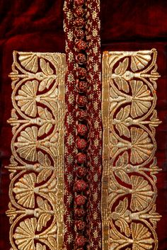Africa | Detail from a Woman's Wedding Kaftan. | 19th century, Marrakech