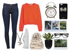 """""""Comfy And Casual"""" by marsophie ❤ liked on Polyvore featuring Eugenia Kim, Frame Denim, T By Alexander Wang, KEEP ME, Kate Spade, Vans and Werkstatt:München"""