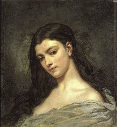Thomas Couture, Female Head by Gatochy, Makes me think of Maribeth.