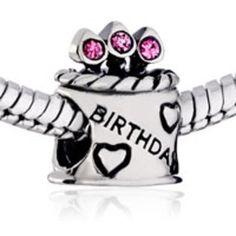 PANDORA Charm Pink CZ Sterling Silver Sterling silver Bracelets