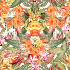 Estampa Leafs`n`Flowers by Gibran Younes, via Behance