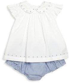 Ralph Lauren Baby S Two Piece Embroidered Top Ruffle Bloomers Set Ralph Lauren Baby Girl Ruffle Bloomers Clothes