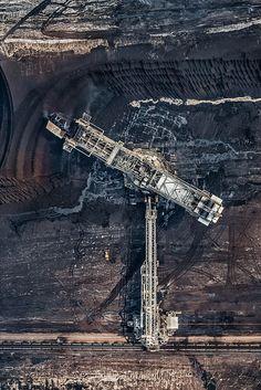Ariel view of coal mining - Bernhard Lang
