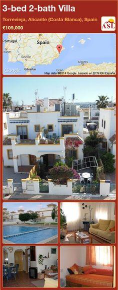 3-bed 2-bath Villa in Torrevieja, Alicante (Costa Blanca), Spain ►€109,000 #PropertyForSaleInSpain