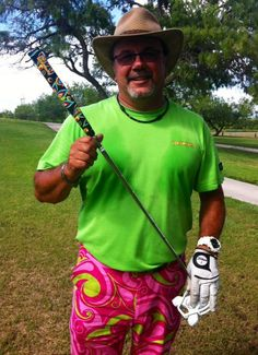 Official Loudmouth Golf, 60s inspired print... love the colors and swirls..of the golf pants