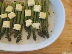 NAMI-NAMI: a food blog: Simplest is the best: fresh local asparagus, roasted with feta cheese