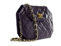 Chanel Vintage Burgundy Octagan Flap | From a collection of rare vintage handbags and purses at http://www.1stdibs.com/fashion/accessories/handbags-purses/