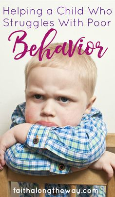 Learn to teach your child practical steps to managing poor behavior. There is hope for your child!