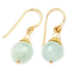 9ct Aquamarine & Pearl Earring. gerrim.com Pearl Earrings, Pearls, Jewelry, Pearl Studs, Jewlery, Jewerly, Beads, Schmuck, Jewels