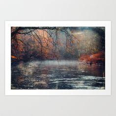 between fall & winter Art Print by Dirk Wuestenhagen Imagery - $18.00