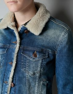 DENIM JACKET WITH SHEEPSKIN LINING - Blazers - Woman - ZARA United States