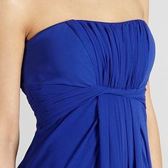Bright blue twist bandeau maxi prom dress - Bridesmaid dresses - Dresses - Women -