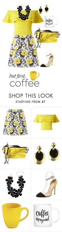 """""""Coffee in the Morning"""" by shamrockclover ❤ liked on Polyvore featuring Miss Selfridge, Acne Studios, Christian Dior, Decree and Waechtersbach"""