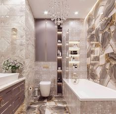 41 Luxury Bathroom Ideas - Bathrooms have become the status symbols of any home. People want their bathroom to be unique in design and splendid in appearance. Bathroom Tile Designs, Bathroom Design Luxury, Bathroom Colors, Modern Bathroom, Small Bathroom, Bathroom Goals, Dream Bathrooms, Amazing Bathrooms, Bathroom Inspiration