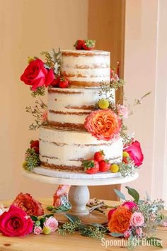 You Should Experience Diy Wedding Cake Recipes At Least Once In Your Lifetime And Here's Why - diy wedding cake recipes How To Make Wedding Cake, Diy Wedding Cake, Do It Yourself Wedding, Rustic Wedding, Homemade Wedding Cakes, Strawberry Cream Cheese Filling, Strawberries And Cream, 12 Inch Cake, Homemade Vanilla Cake