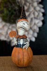 Dead Day Skelly-In-A-Pumpkin