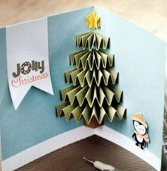 Julie's Stamping Spot — Stampin' Up! Project Ideas Posted Daily: Jolly Christmas Card VIDEO Tutorial Julie's Stamping Spot — Stampin' Up! Christmas Tree Cards, Noel Christmas, Xmas Cards, Diy Cards, Christmas Decorations, Christmas Postcards, Homemade Christmas, Christmas Abbott, Xmas Tree
