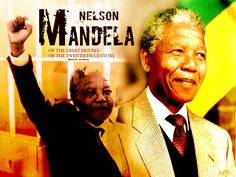 Nelson Mandela. One of the greatest figures of the 20th century.
