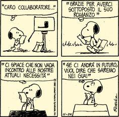 Editori nazionali: solo libri firmati dai V.I.P.! Snoopy-scrittore