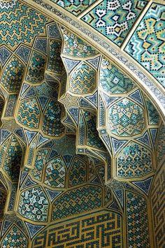 Esfahan-i tegelwerk.  (Iran) hou van dit patroon voor het ontwerpen