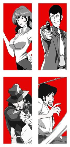 Lupin the third ★ || CHARACTER DESIGN REFERENCES (www.facebook.com/CharacterDesignReferences & pinterest.com/characterdesigh) • Love Character Design? Join the Character Design Challenge (link→ www.facebook.com/groups/CharacterDesignChallenge) Share your unique vision of a theme every month, promote your art and make new friends in a community of over 20.000 artists! || ★