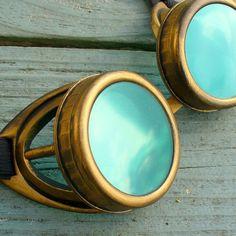 steampunk+goggls+glasses | Steampunk Victorian Aviator GOGGLES glasses Time Travel ... | Steampu ...