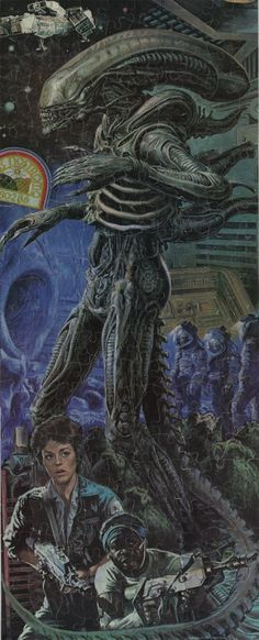 1979 Alien jigsaw puzzle. Art by Earl Norem. ViaWe Are...