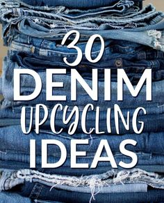 30 Denim Upcycling Ideas Using Old Jeans - Diy gifts - Artisanats Denim, Denim Rug, Jeans Fabric, Denim Purse, Denim Quilts, Blue Jean Quilts, Denim Style, Denim Outfit, Denim Shorts