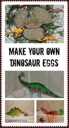 Momma's Fun World: Dinosaur eggs erupting bath fun
