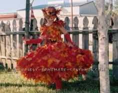 Beautiful Pile of Fall Leaves Costume