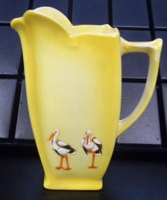Royal Bayreuth Stork Cream Pitcher