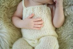 Ivory Mohair Knitted baby romper / Baby от ZucchiniIslandKnits