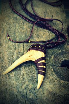 Deer Antler Leather Necklace Unisex by WildPeopleFreeSpirit, $55.00