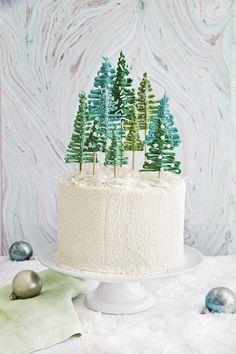 Pine Tree Forest Cake - TownandCountryMag.com
