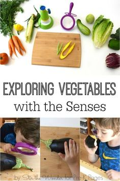 Science for Kids: Exploring Vegetables with the 5 Senses. Use vegetables to engage all the senses. Perfect for a study of the 5 senses at home or in your preschool, pre-k, or kindergarten classroom! - Pre-K Pages