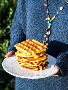 Gaufres French Waffles - My Parisian Kitchen Breakfast Waffles, Breakfast For Kids, Parisian Kitchen, Nutella Crepes, Thermomix Desserts, Jaba, Detox Recipes, Perfect Food, Gourmet