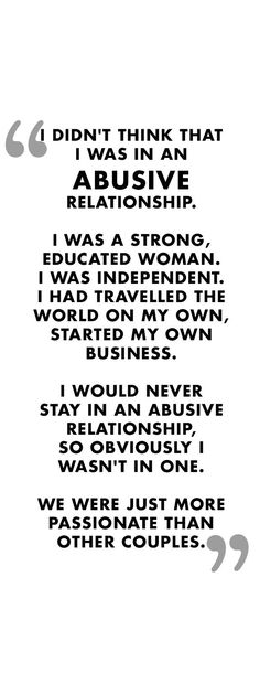Abuse can happen to anyone, anywhere!