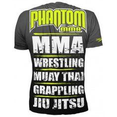 "Phantom MMA Shirt ""EVO - MMA Sports 2.0"" - Black/Neon"