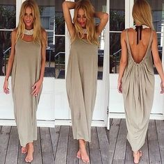 Material: Polyester Fabric Type: Chiffon Silhouette: Straight Sleeve Length: Sleeveless Pattern Type: Solid Sleeve Style: Tank Waistline: Natural Neckline: O-Neck Dresses Length: Ankle-Length Gender: