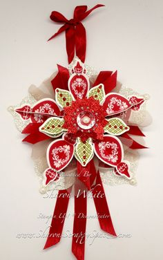Sharon's Scrappy Place - Iv'e got the goodies arriving to make this!  Whoo Hoo! Paper Christmas Ornaments, Stampin Up Christmas, Noel Christmas, Handmade Christmas, Christmas Decorations, Christmas Projects, Holiday Crafts, Crismas Tree, Making Ideas