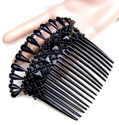 French Jet hair comb Victorian mourning hair accessory hair