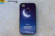 iPhone 4 case iPhone 4s case iPhone 4 cover iPhone 4s skin iPhone 4s cover iPhone 4s skin Hard Plastic or Soft Rubber.Moon. $14.98, via Etsy.