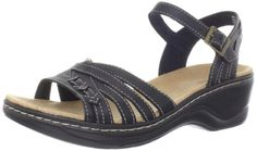 Clarks Womens Lexi Norwich SandalBlack12 M US * You can get more details by clicking on the image.