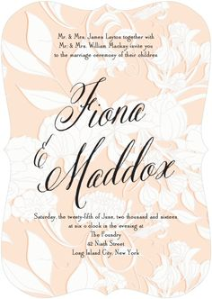 Very feminine invitation