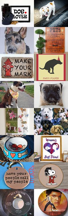 DOG LOVERS AND ELVIS  by Bohemianredjewelry on Etsy--Pinned+with+TreasuryPin.com