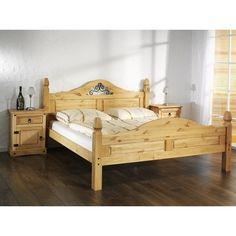 Masivní manželská postel 180x200 Mexiko včetně roštů