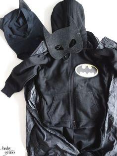 DIY - Batman Karnevals-Kostüm (nachhaltig, upcycling, öko-jumpsuit)