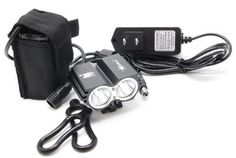 Skycoolwin Waterproof 2000 Lumens Xml U2 LED Bicycle Light 4 Modes Super Bright Lighting Lamp Bike Lamp Headlamp with 84v Rechargeable Battery Pack and Charger for Camping Cycling Hiking >>> Read more  at the image link.