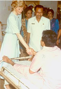 In November 1989, Princess Diana visited Sitanala Leprosy Hospital in Indonesia. Diana Princess of Wales was Patron of The Leprosy Mission England and Wales from 1990 until her untimely death in 1997.