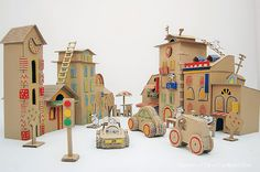 DIY Cardboard Mouse City by Cardboard Dad